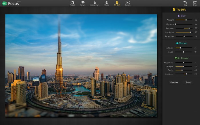 Photo Editing Software for Mac by Skylum https:  skylum.com getstarted focus focus modes photo