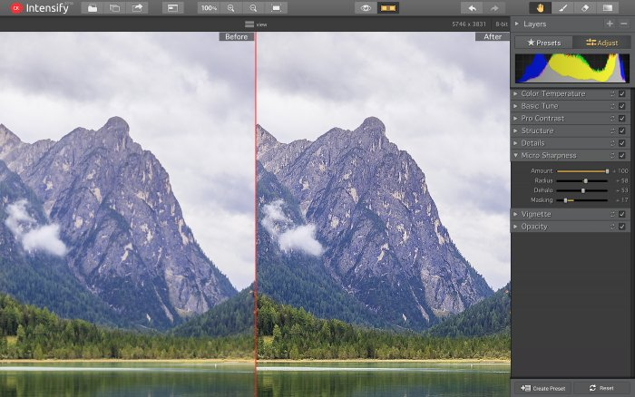 Photo Editing Software for Mac by Skylum https:  skylum.com getstarted intensify intensify adjustment tools