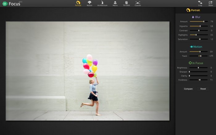 Photo Editing Software for Mac by Macphun   getstarted focus focus adjustment tools