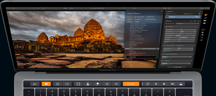 Photo Editing Software for Mac by Macphun   luminar touchbar support macbook pro