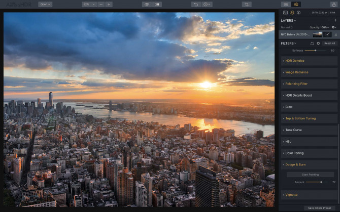 I have a basic version of Aurora HDR 2017. What will I get by upgrading to Aurora HDR 2018? Image7