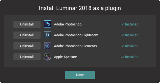 While Luminar photo editor is a full featured stand-alone