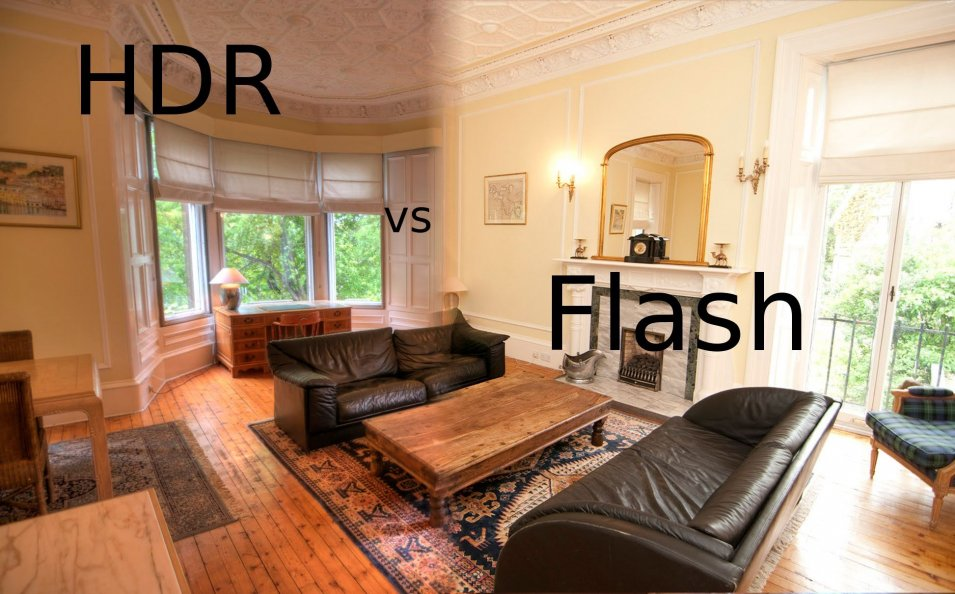 Proper light for interior HDR photos