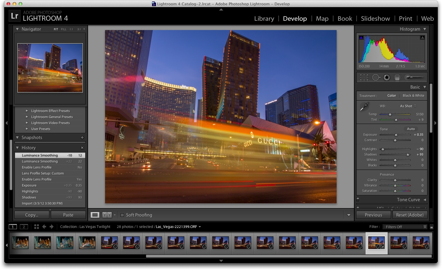 Lightroom 4 screenshot