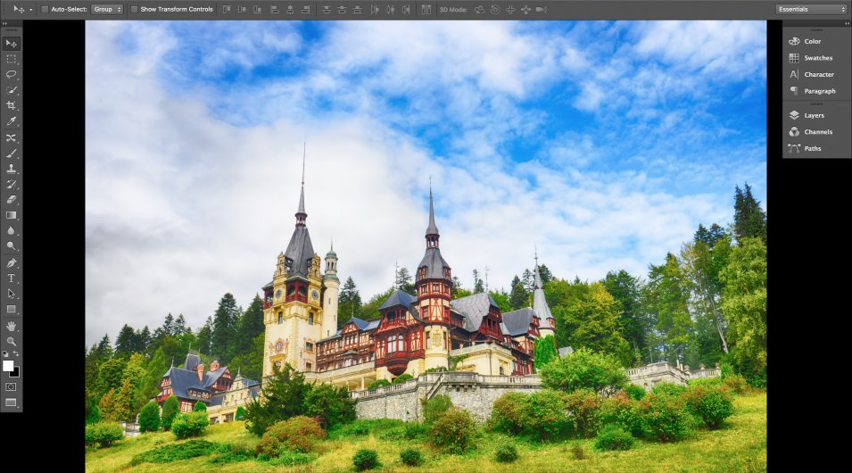 A castle in Photoshop