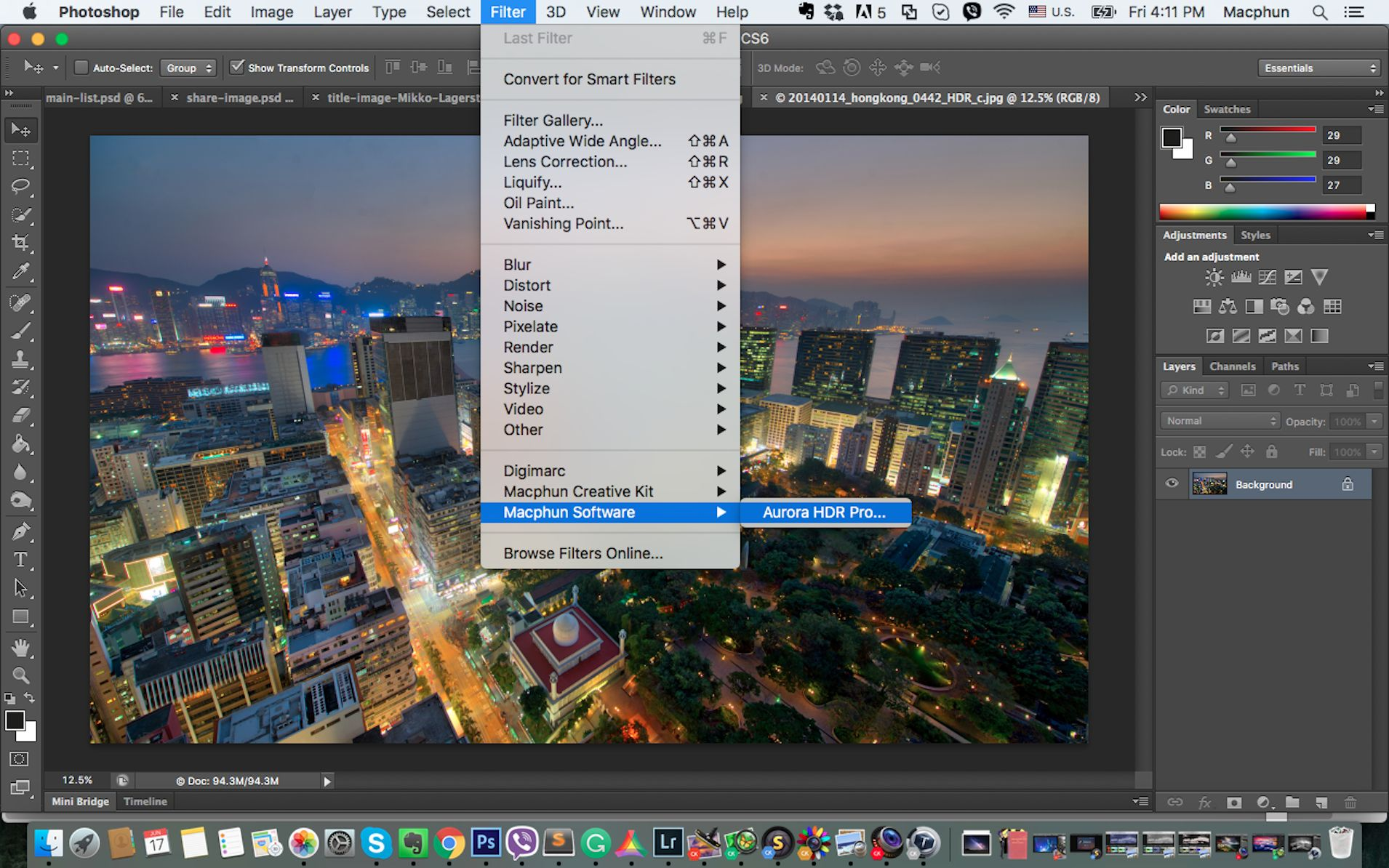 hdr action for photoshop mac