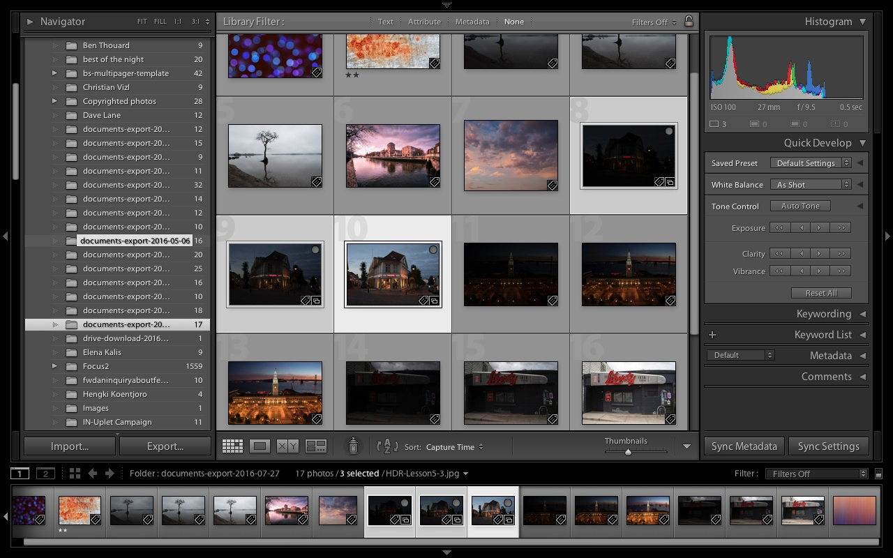 Lightroom workplace screenshot