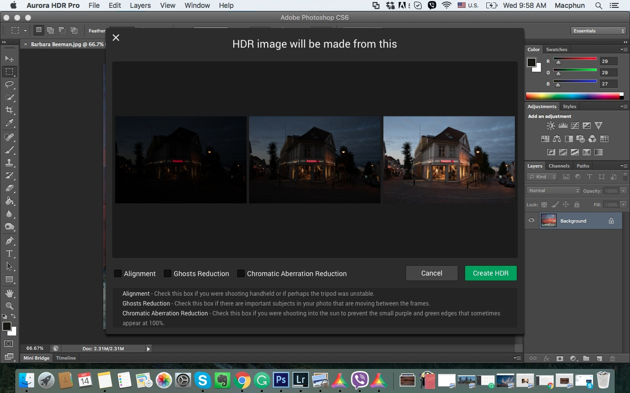Make HDR photos in Lightroom 3