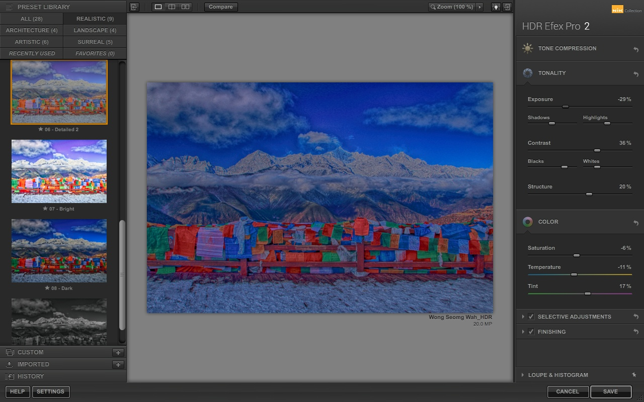 HDR Efex Pro 2 Adjusters