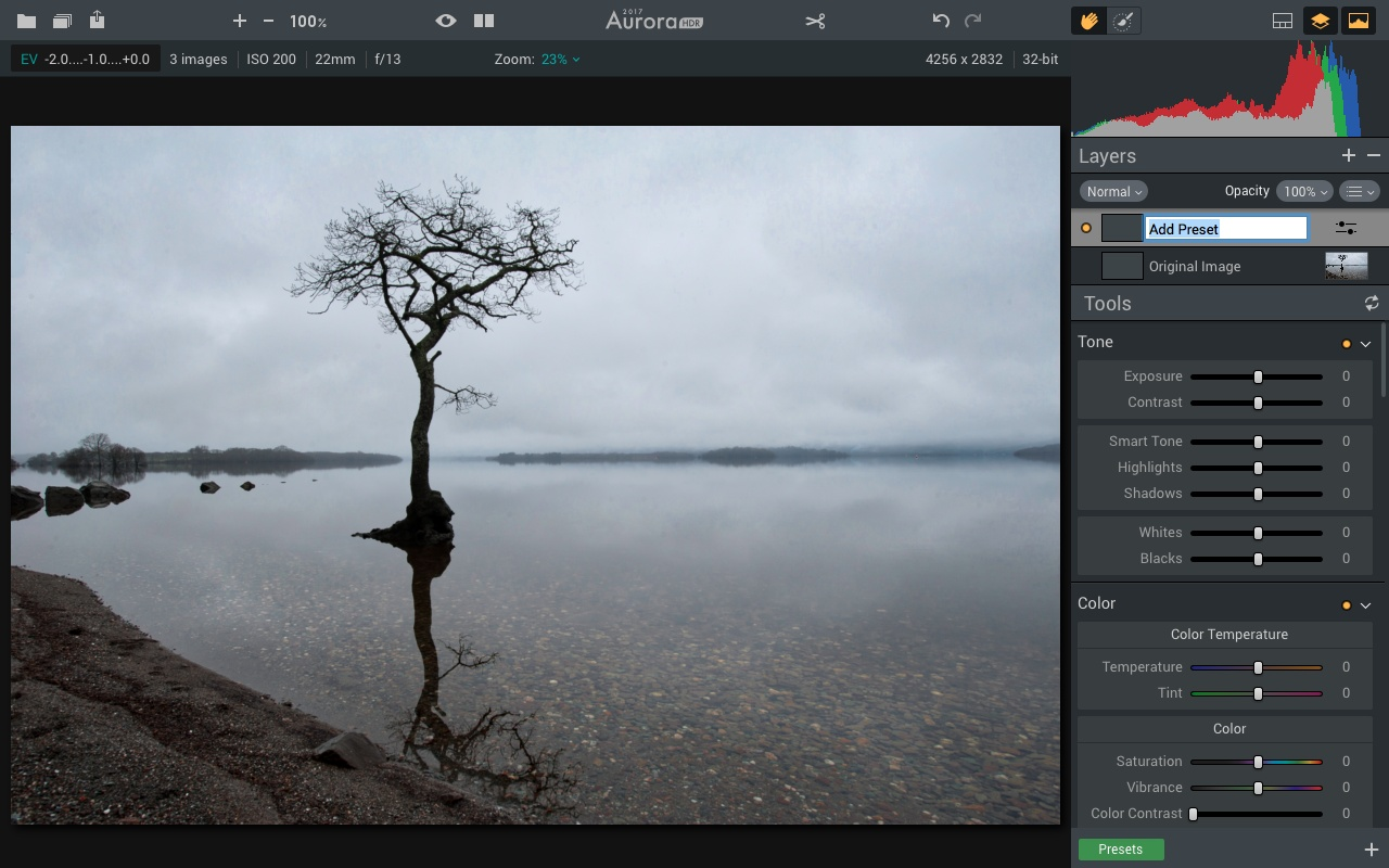 Adding a new layer in Aurora HDR 2017