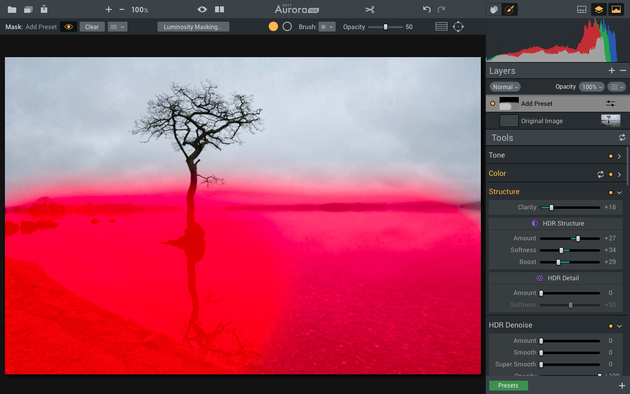 Selective masking tool in Aurora HDR 2017