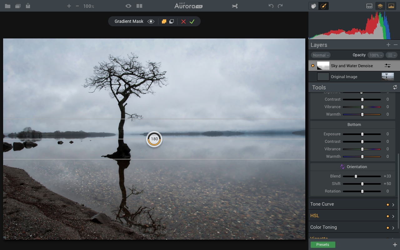 Gradient Masking tool in Aurora HDR 2017