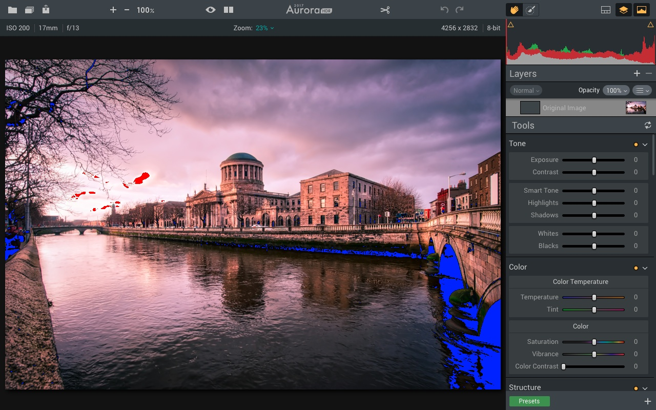 Clipping tool  in Aurora HDR 2017